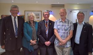 President Alan inducts four new members September 2016