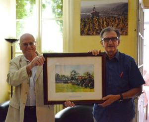 Presentation of Steam Rally painting to Rotary Club of St Peray Tournon (August 2011)