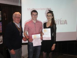 PARTNERS' EVENING, RYLA candidates Nicol Christie and Patrycja Bany