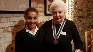 Casterbridge Rotary Supports Young Athlete
