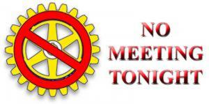 No Meeting Tonight - Bank Holiday