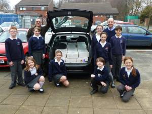 Norwood School fill Shoeboxes