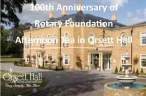 100th Anniversary of Rotary Foundation