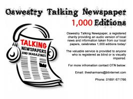 Congratulations to Oswestry Talking Newspaper