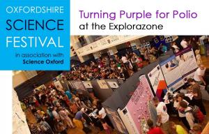 Turning Purple for Polio at Oxfordshire Science Festival