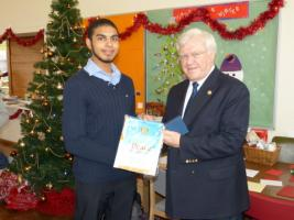RIBI President's visit to the Risborough Interact club