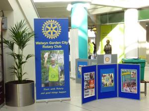 Rotary Day Publicity Event in the Howard Centre