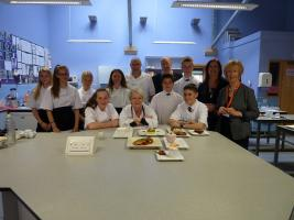 Christchurch Students show their cooking skills at the Food Festival Cookery Challenge