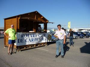 Visit to Carpentras [France] Rotary Club event