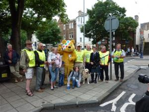 Pudsey Raises Money in North Berwick 2009