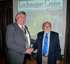 Richard Dunning, owner of the Lochnagar Memorial Crater