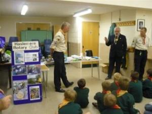 Presentation of Two Aqua Boxes by Liphook Scout Group