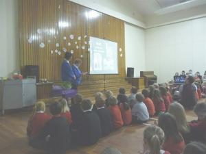 Purple Pinkie at Dunbar Primary School