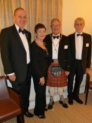 Jean Lennie, Alister McDonald, Club President Bill Munro and Bill Stewart