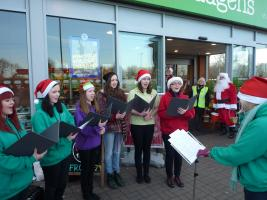 ENCHANTED  sang for Santa - Sun 23rd