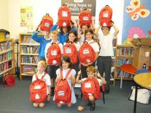 School in a Bag packing at St Marys School Chiddingfold