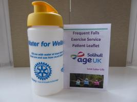 Drinks Bottles for AgeUK fitness classes