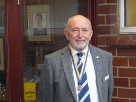 Rotarian and Past President Colin Scraggs PHF