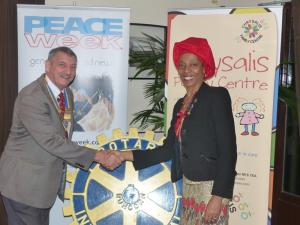 Club Meeting + speaker Dr Erinma Bell MBE DL - Peace Scholar
