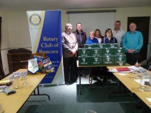 Club Meeting + 1st Aid boxes presentations to local groups