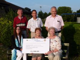 Great Baddow Races Cheques Presentation