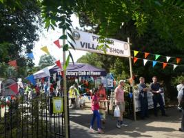 Visitors arriving at the Pinner Village Show.