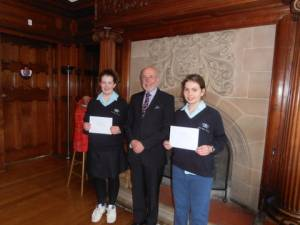 Presentation by Bill Pollington to the Winners of the Young Witers Competition