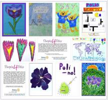 Primary School Purple4Polio Art Competition - Order your Notelet Pads Here