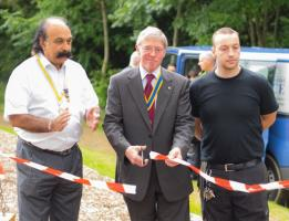Opening of the play area in Heaton Woods