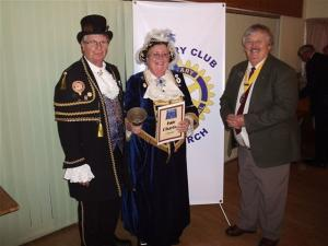 Avril Hayter Smith. Ely Town Crier