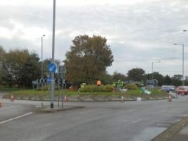 Aylsham Roundabout renovation by Aylsham in Bloom