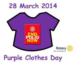 Purple Clothes Day Falkland Primary and Park House Schools
