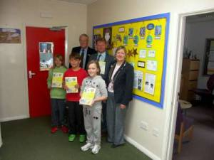 Presenting Childrens books to local schools