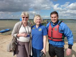 Our 2014 Candidate - Iain - with Rotarians Pat and Sian.