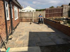 October 9th 2015 - the patio is finished !