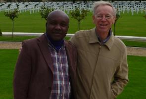 Sep 2014 Peace Scholar visits the American Cemetery - Cambridge