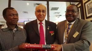 Rev Fr Patrick Murunga Visits Westminster West Rotary Club
