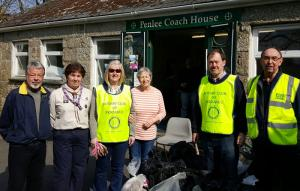 Rotarians, partners and friends turned out on Sunday 13th March to help with the 'Pick Up Penzance' litter picking and weeding initiative organised by Jess Golding of Penzance BID. 