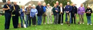 Planting Crocus Corms with Local Residents