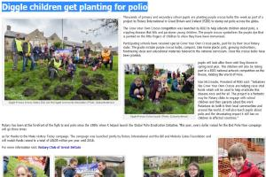 Diggle & Greenfield Children Get Planting for Polio