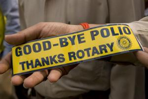 THE ROTARY CLUB SUPPORTS THE INTERNATIONAL END POLIO NOW PROJECT