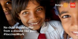Charity dinner in aid of End Polio Now