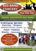 Poster for Fabulous Forties Concert