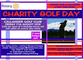 Charity Golf Day - Friday 17th August 2018
