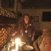 President Alison chaired an enjoyable evening, notwithstanding a major power failure.