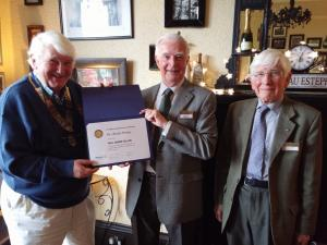 Dr Jim Penny - 50 years a Rotarian!