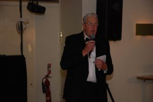 President Ron Greenhough addresses members and guests.