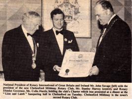 Charter Presentation to Chelmsford Mildmay 26 September 1972