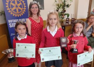 Devon County Councillor Claire Wright with some of the winners of the primary schools gardening competition