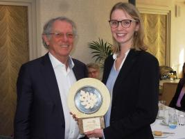 Prof Sir David King presented Charlotte with her Cambridge competition award on 21 January 2020